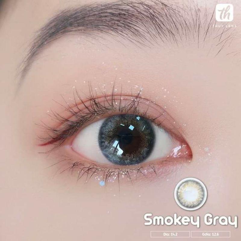 Lens Smokey Gray Hàn Quốc tặng kèm khay đơn
