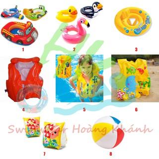 Phao bơi cho bé áo phao trẻ em tập bơi chống lật, phao bơi tay, phao bơi hình thú, hình xe, sư tử, cá xấu dễ thương