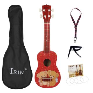 21inch Ukulele Cute Bear Pattern Basswood Ukelele Mini Guitar 4 Strings Musical Instruments with