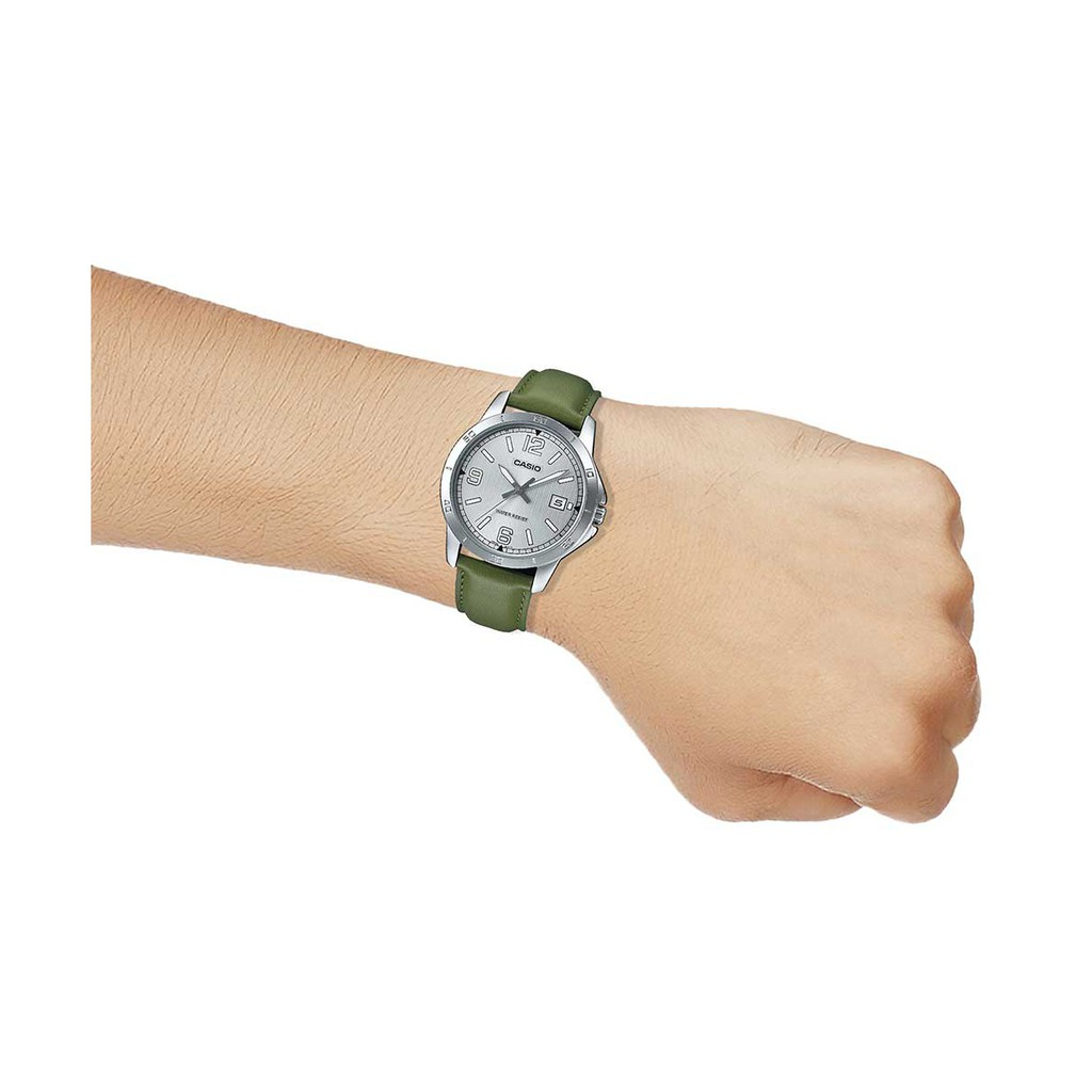 Đồng hồ nam dây da chính hãng Casio Anh Khuê MTP-V004