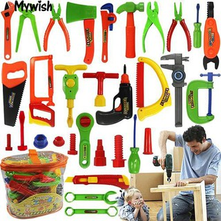 👶🏼Kids Play Pretend Toy Tool Set Workbench Construction Workshop Toolbox Tools