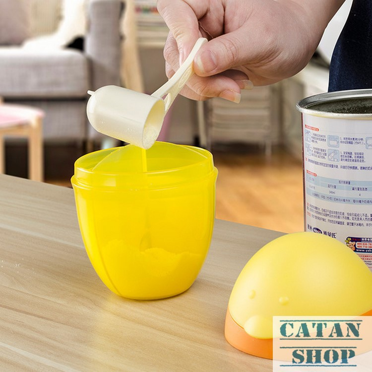 bình chia sữa bột , hộp chia sữa bột không BPA, tiện dụng, xinh xắn hình chim cánh cụt BB10-HCS