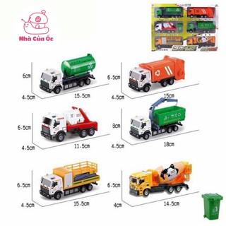 Bộ 3 xe đồ chơi mô hình môi trường bằng sắt