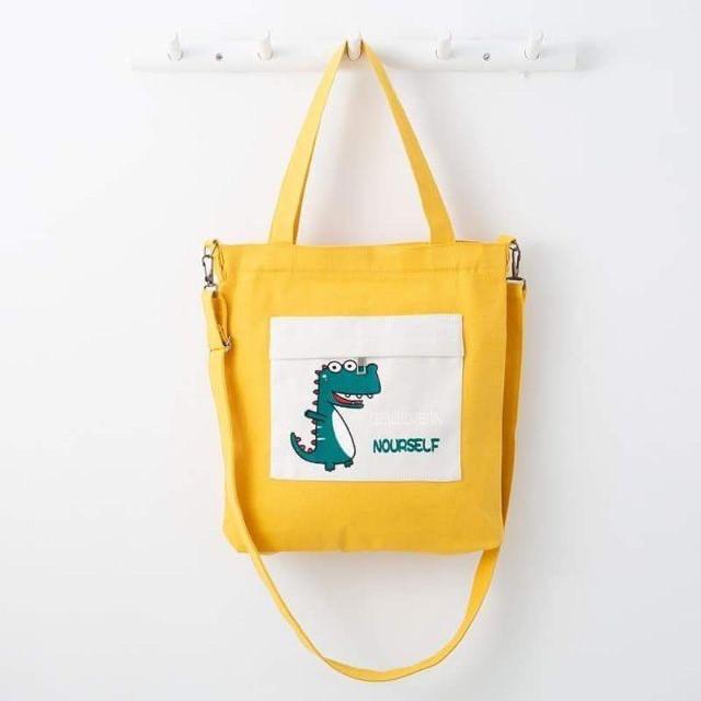 Túi vải tote khủng long