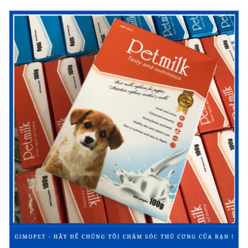 Sữa cho chó cao cấp Petmilk 100GR
