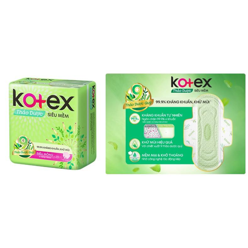 Băng vệ sinh Kotex Thảo Dược - gói 4 miếng