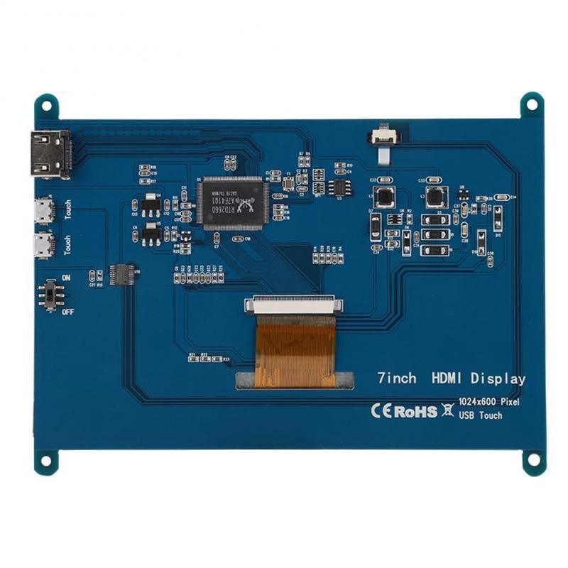 SALE HOT Lẻ hình LCD 7 inch HDMI 1024x600 full HD cảm ứng điện năng cho Raspberry Pi