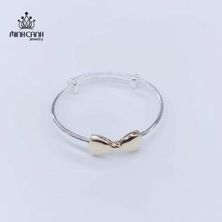 Lắc Bạc Cho Bé Gái Hình Nơ Vàng - Minh Canh Jewelry