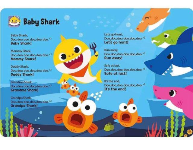 Sách phát nhạc Baby shark sound book