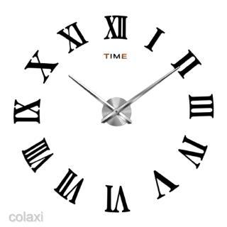 Đồng hồ dán tường 3D số La Mã không kèm khung