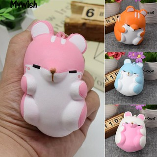 👶Squeeze Cartoon Hamster Animal Squishy Slow Rising Kid Toy Decor