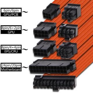 Bang♥ 1Set 30/40cm Basic Extension Cable PC Power Supply Wire 24PIN 8-PIN 6PIN 4+4PIN