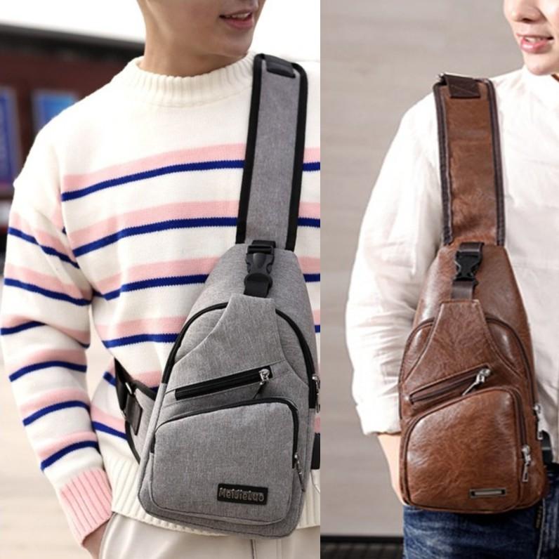 Túi vải, túi da đeo chéo nam nữ thời trang siêu nhẹ dáng thể thao ( tặng cáp sạc điện thoại) -TDCN08 TDCN07