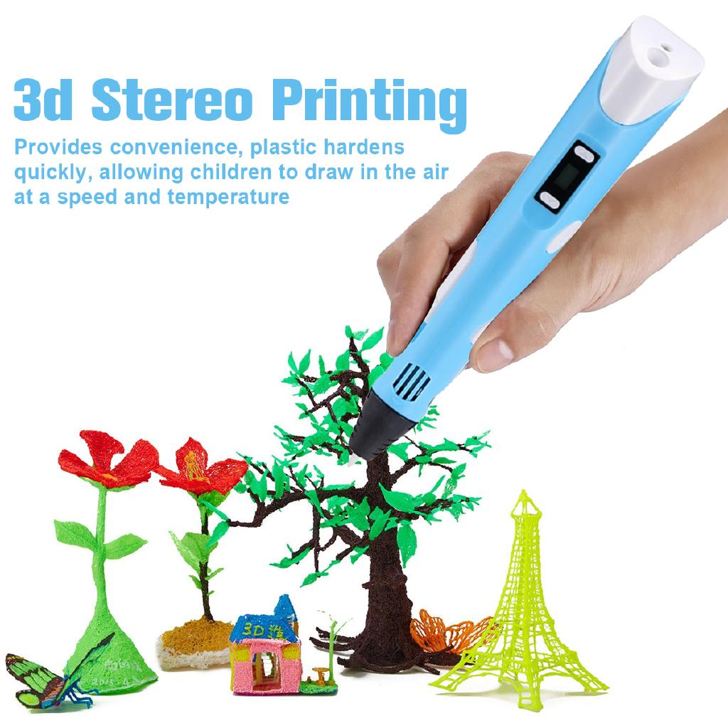 3D 18.5CM Stereoscopic Drawing Printing Pen Crafting PLA ABS Modeling Arts Tool