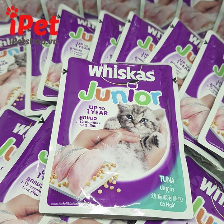 Pate Vị Cá Ngừ Cho Mèo Con Whiskas Junior Tuna 85g - iPet