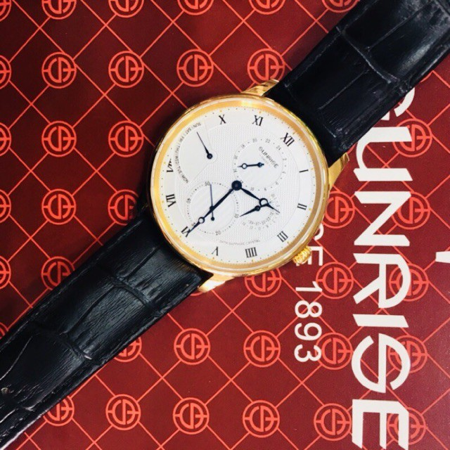 Đồng hồ nam Sunrise 1134PE dây da 6 kim fulbox