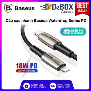 Cáp sạc nhanh Baseus Waterdrop Series PD cho iPhone/ iPad (1.3m 18W Quick charge) chính hãng