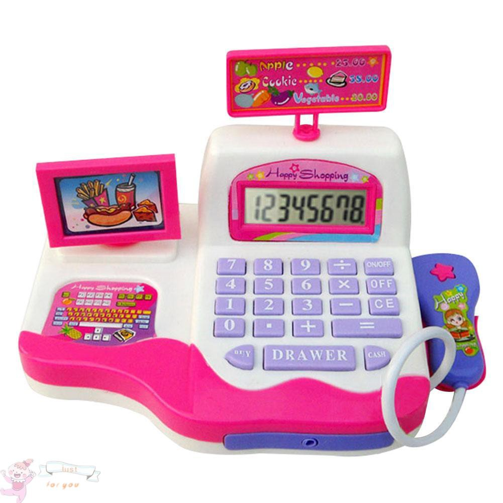 ✥JFY✥Kids Simulation Supermarket Cash Register Music Learning Electronic Toys