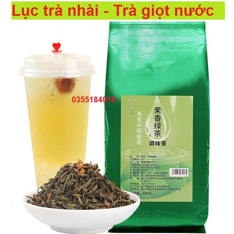 Lục trà nhài pha trà hoa quả - trà chanh, trà giọt nước túi 500g chính hãng