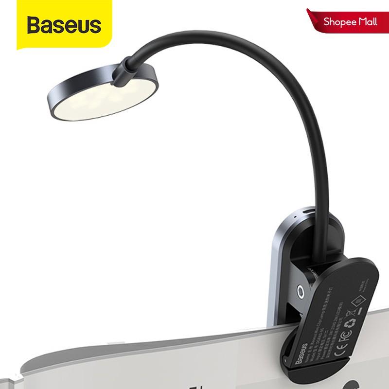 Đèn LED Baseus nhỏ kẹp bàn không dây cảm ứng sạc USB để đọc sách vào ban đêm