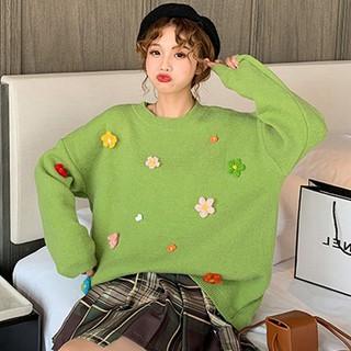 Autumn and winter new pullover sweater women Korean version loose loose wild small fresh three-dimen