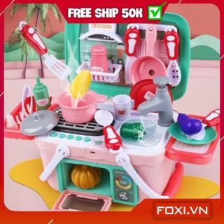 [FREESHIP+TẶNG QUÀ] Bộ đồ chơi nấu ăn-bác sĩ-nướng BBQ Foxi-nhập vai-giáo dục hướng nghiệp-có pin-âm thanh như thật