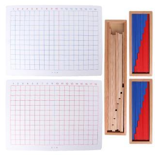 YOUN* Wooden Montessori Addition Subtraction Board Panel Educational Kids Family Train