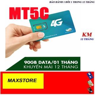 Siêu SIM 4G Viettel MT5C Tặng 90GB/Tháng từ maxstore.Sử dụng toàn quốc.