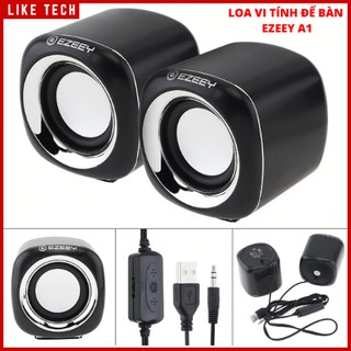 Loa Vi Tính Để Bàn Tương Thích Cho máy Tính/Laptop/Điện Thoại, Loa EZEEY A1A1 Mini 3W USB 2.0 Siêu Trầm Loa Với Jack 3.5
