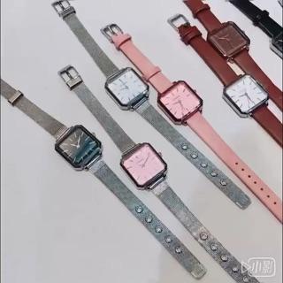 [NEW ARRIVAL] Đồng hồ nữ Ulzzang mặt vuông cá tính - HÀNG CHÍNH HÃNG - dây nhuyễn siêu mỏng