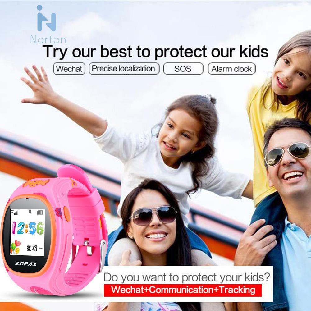 Norton❃ S866 Colorful GPS Smartwatch for Kids Tracking Watch Children Security SOS