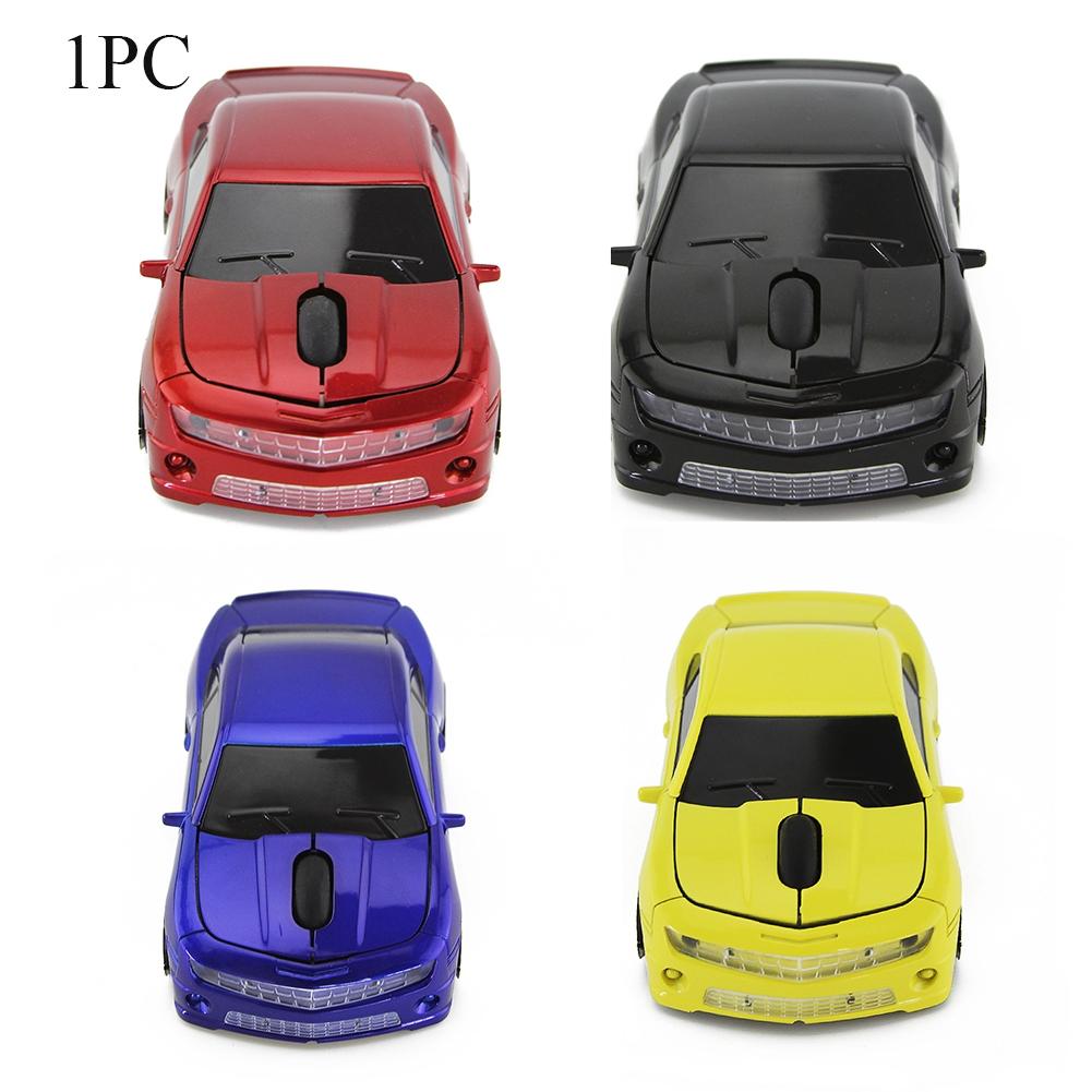 Car Shape USB Plastic Laptop Office 2.4GHz Wireless 3 Keys Mouse
