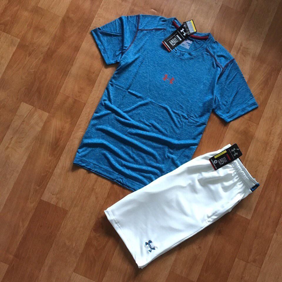 Set áo thun ngắn tay và quần đùi nam vải mát lạnh cho mùa hè