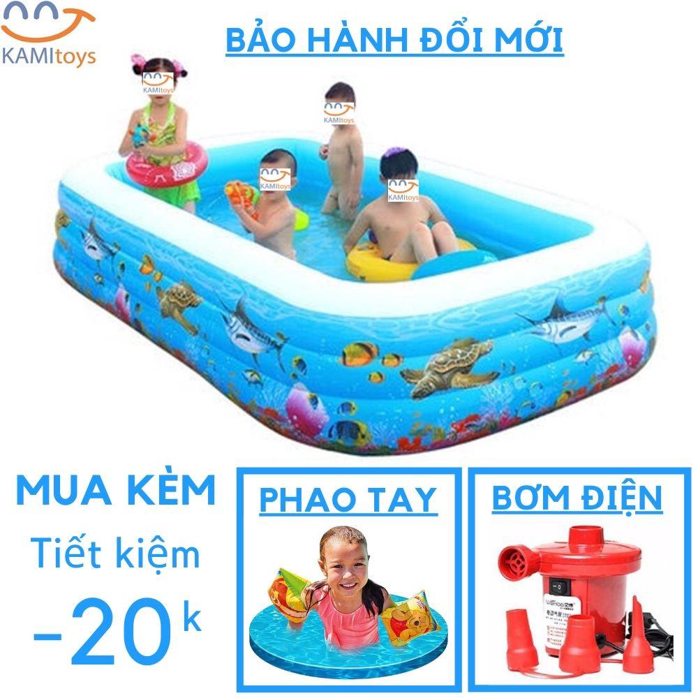 Bể bơi phao cho trẻ em bé ❤️Đủ Cỡ❤️Đồ kèm(chọn Bơm Áo phao ) hồ bơi bơm hơi Bảo hành trọn đời