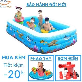 Bể Bơi Phao Bơi Cho Trẻ Em Bé Đủ Cỡ Đồ kèm(chọn Bơm Áo phao ) hồ bơi bơm hơi Bảo hành trọn đời thumbnail