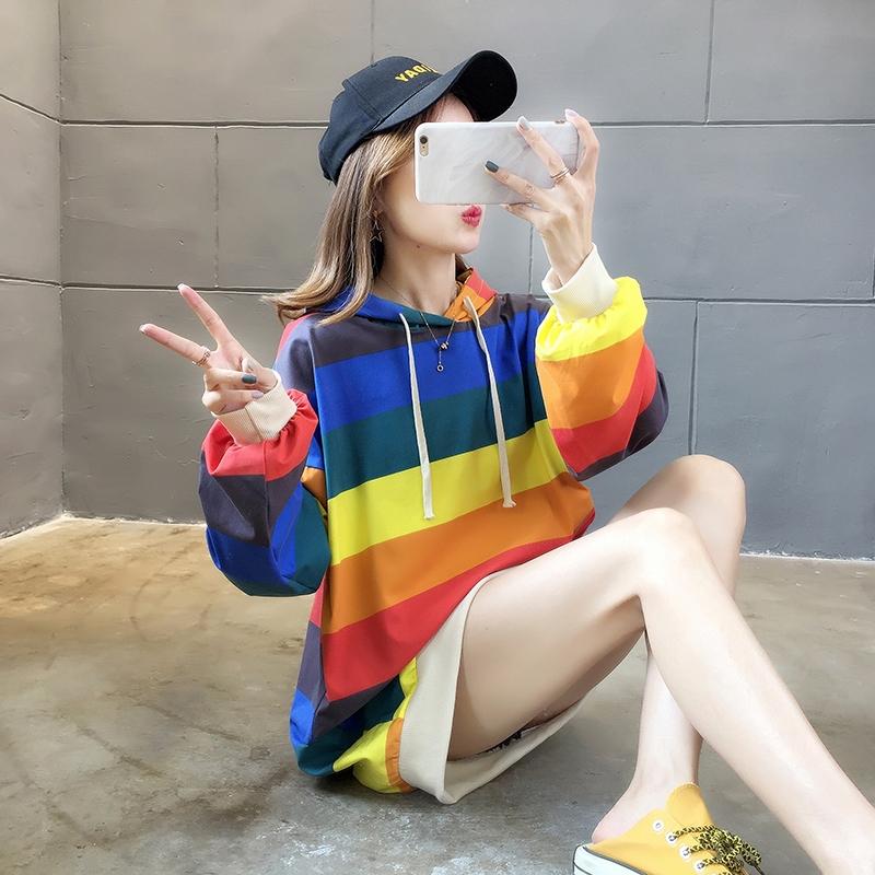 tootoo ฤดูใบไม้ร่วงเสื้อกันหนาวหญิง 2019 ใหม่หลวมผู้หญิงขนาดใหญ่ zoomable cec แขนยาวเสื้อบางๆ
