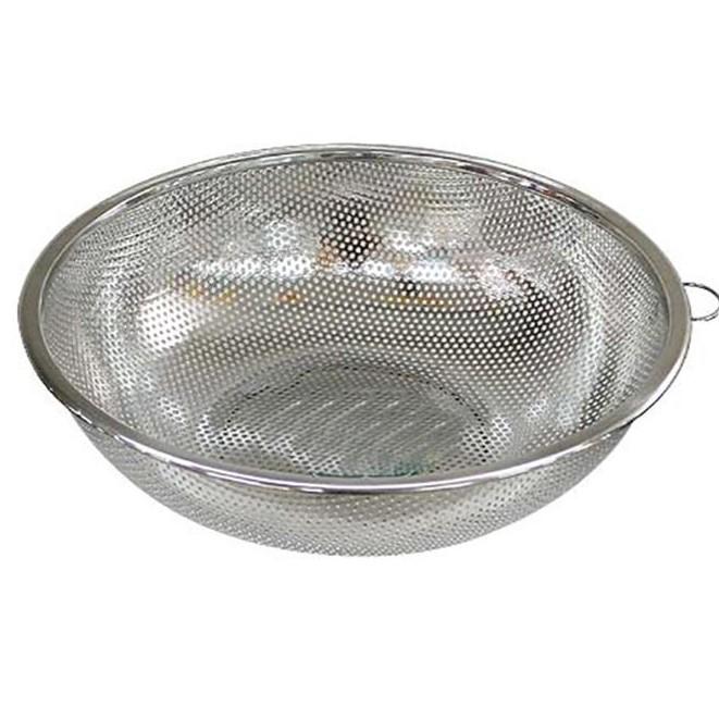 Rổ lưới 24cm ( vo gạo, rửa rau...) inox 430 cao cấp ( SXVN )