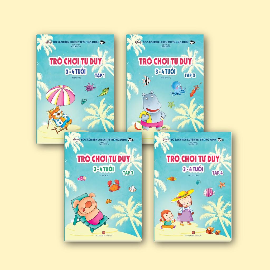 Sách thiếu nhi - Combo 4 cuốn TRÒ CHƠI TƯ DUY 3-4 tuổi (trọn bộ)