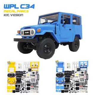 Bộ KIT: Xe ô tô điều khiển WPL C34 4×4 tỉ lệ 1:16 (Bản kim loại)