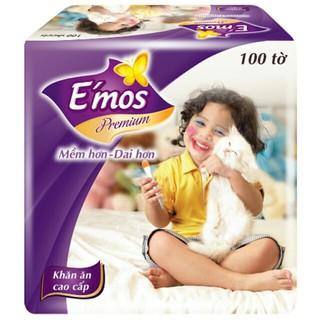 Combo 3 gói khăn giấy Emos ( 100 tờ / gói )