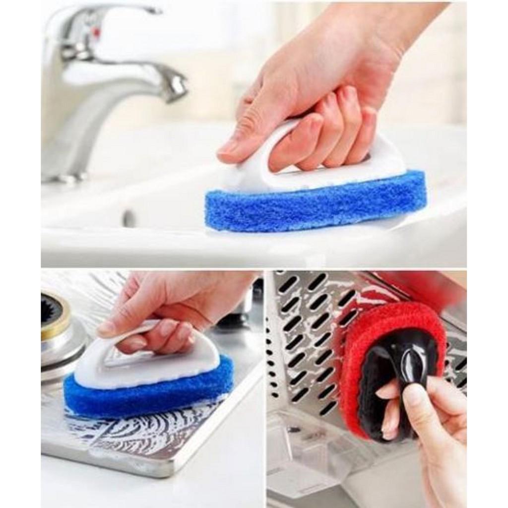 Dụng cụ chà cọ rửa có tay cầm tiện dụng ( mẫu mới)