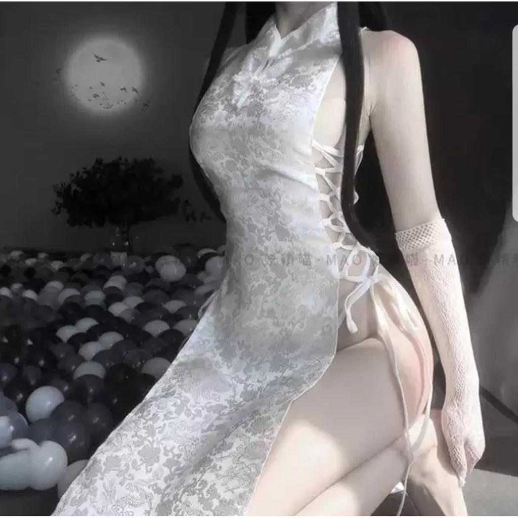 Mặc gì đẹp: Ngủ ngon hơn với [Mã 1010FASHIONSALE6380 giảm 10K đơn 50K] Đồ ngủ cosplay sexy Sườn xám thượng hải