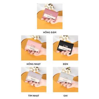Hình ảnh Ví nữ thời trang ngắn cầm tay mini đẹp MADLEY cao cấp nhiều ngăn nhỏ gọn bỏ túi VD220-2
