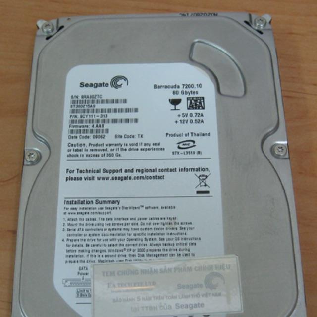 Ổ cứng 80gb 160g 250g 500g … các loại cho máy bàn và laptop Giá chỉ 100.000₫