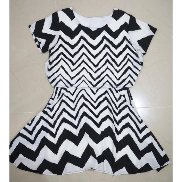 Dress เดรสลาย zebra