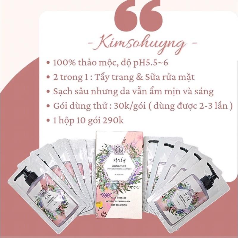 Sữa Rửa Mặt Đậu Đỏ KimSoHyung Pink Brightening Cleanser So Natural Nhập Khẩu Hàn Quốc chuẩn 100%