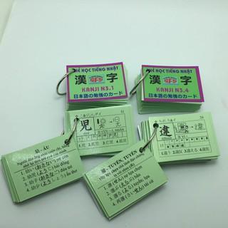 [ FREE SHIP ] [Sỉ_100k] Bộ thẻ tiếng nhật kanji N3_khobuon thumbnail