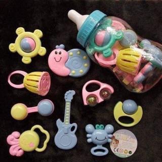 ‼️ ‼️ ‼️Xúc xắc bình ti Baby Toys 9 món cho bé