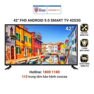 [Mã 158ELSALE hoàn 7% xu đơn 300K] Smart Tivi Full HD Coocaa 42 inch – Android 9.0 – Model 42S3G – Miễn phí lắp đặt