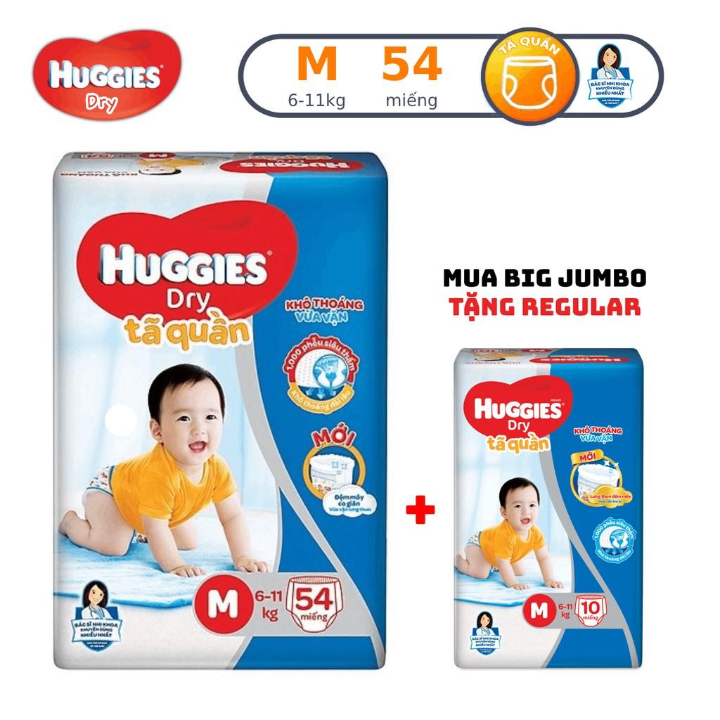 Tã quần Huggies Pant Big Jumbo M54/L48/XL42/XXL38